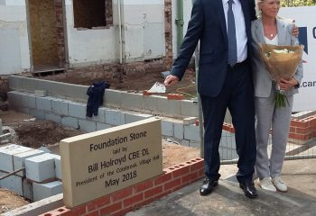 Laying Foundation Stone