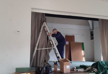 The curtains were taken down on Sunday 3rd November.