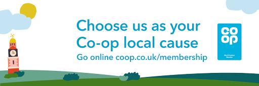 Choose us as your Co-op local cause. Go online coop.co.uk/membership